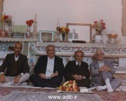 از چپ به راست : آقای حمید اوحدی، ادیب برومند، نفر چهارم نادر قلی نادری
