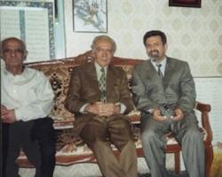 از راست به چپ : پروفسور سید حسن امین - ادیب برومند - احمد نیکوهمت
