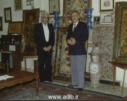 ازراست به چپ: ادیب برومند ، عبدالصمد حقیقت شاعر توانا در خانه ادیب برومند