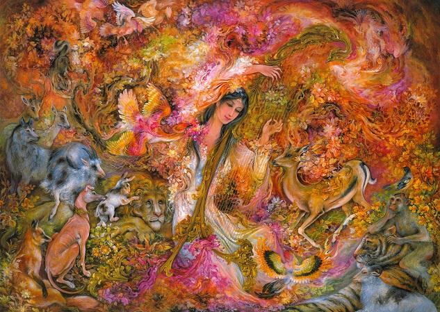 La Música Del Amor  Pintura Persa  Farshchian 1